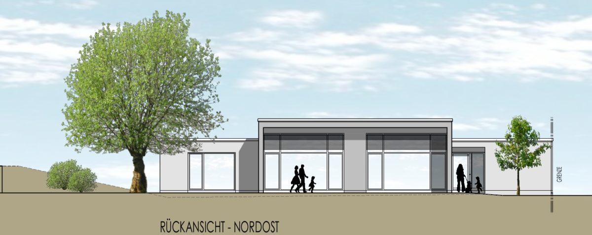 Das neue Nachbarschaftszentrum (Planzeichnung von Architekturbüro Wilhelm)